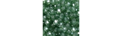 Bola facetada Clear White Green Lustered de 4 mm