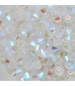 Tupi cristal checo 4mm  White Opal AB 2X