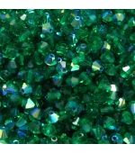 Tupi cristal checo 4mm Green Smaragad AB