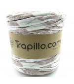 Trapillo Blanco con estampado marrón 6374