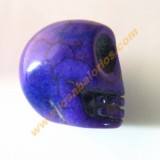Calavera mexicana howlita 17 mm color morado.
