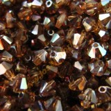 Tupi cristal checo 4 mm Smoked Topaz Celsian