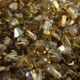 Tupi cristal checo 4 mm Smoked Topaz