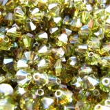 Tupi cristal checo 4mm Olivine Celsian