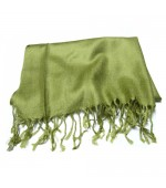 Pashmina color verde 1,80x0,65mt