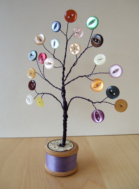 Button Tree Craft Idea