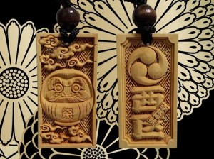 Musashino bori carved wood pendants _1